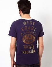 True Religion - T-shirt con stampa &quot;Westcoast&quot;