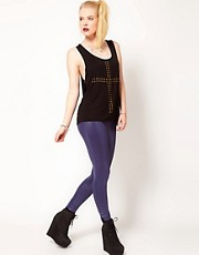 Hearts &amp; Bows High Waist Shine Skinny Trouser
