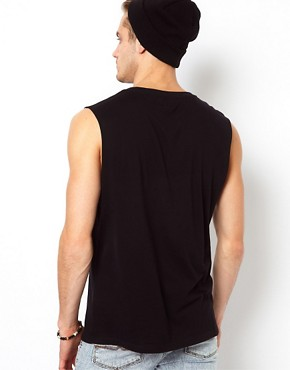 Image 2 ofASOS Sleeveless T-Shirt With Skull Print