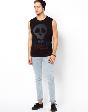 Image 4 ofASOS Sleeveless T-Shirt With Skull Print