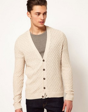 Image 1 ofASOS Cable Cardigan