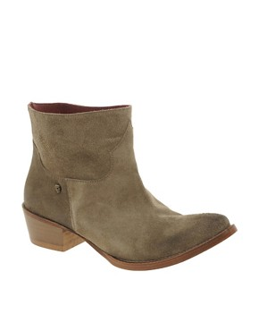 Image 1 ofZadig and Voltaire Beige Midory Western Ankle Boots