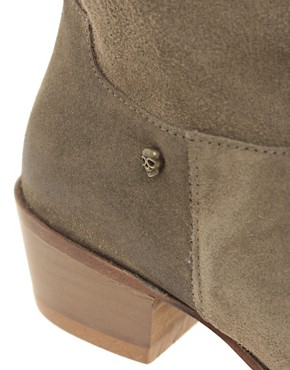 Image 2 ofZadig and Voltaire Beige Midory Western Ankle Boots