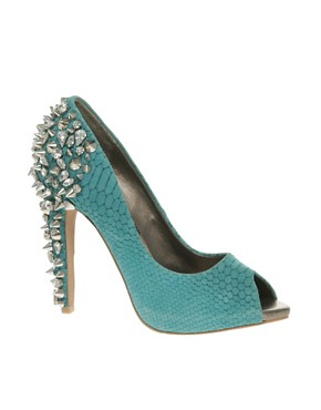 Image 1 ofSam Edelman Lorissa Spiked Peep Toe Court Shoes