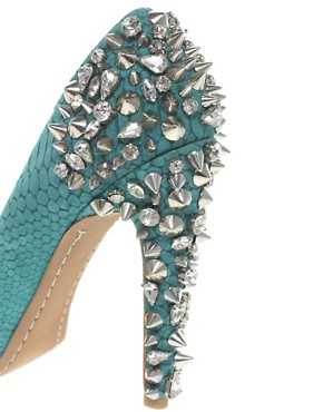 Image 2 ofSam Edelman Lorissa Spiked Peep Toe Court Shoes