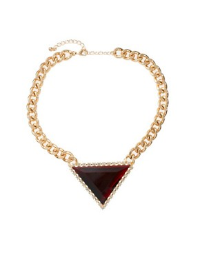 Image 2 ofASOS Curb Chain Triangle Necklace