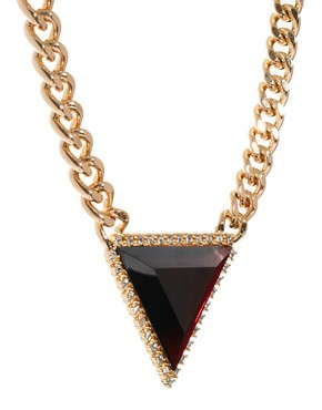 Image 4 ofASOS Curb Chain Triangle Necklace