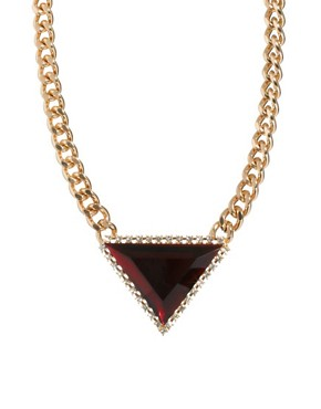 Image 1 ofASOS Curb Chain Triangle Necklace