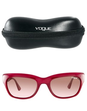 Image 2 ofVogue Red Cats Eye Frame Sunglasses