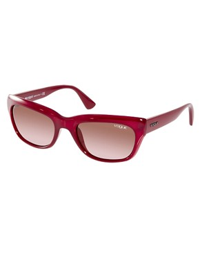 Image 1 ofVogue Red Cats Eye Frame Sunglasses