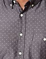 Image 3 ofASOS Denim Shirt With Polka Dots