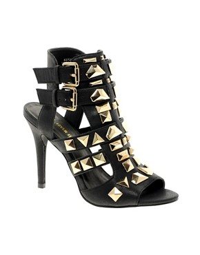 Image 1 ofRiver Island Gladiator Studded Sandals