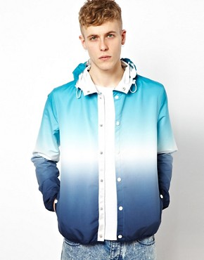 Image 1 ofASOS Cagoule Jacket With Dip Dye