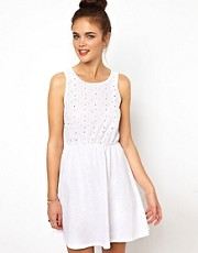 River Island Broidery Front Dress