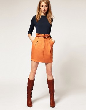 Image 1 ofVila Mini Skirt With Gathered Frilled Waist