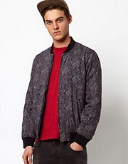 Bellfield Reversible Denim Bomber Jacket