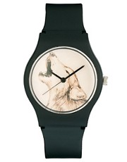 MAY 28TH Wolf Watch Black Matte Plastic Buckle Exclusive to ASOS