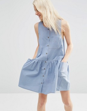 ASOS Sleeveless Button Through Smock Dress