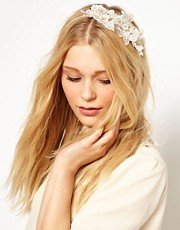 Johnny Loves Rosie Statement Headband with Diamonte Detail