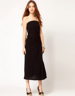 Image 1 of Warehouse Bandeau Midi Dress