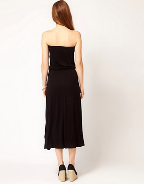 Image 2 of Warehouse Bandeau Midi Dress