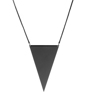 Image 1 ofASOS Oversized Triangle Necklace
