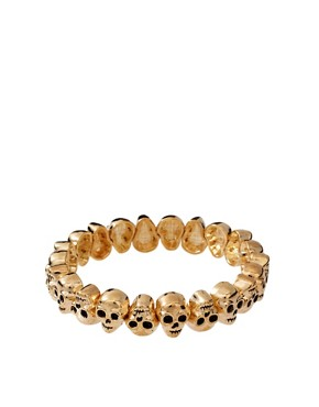 Image 1 ofASOS Skull Stretch Bracelet