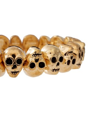 Image 3 ofASOS Skull Stretch Bracelet