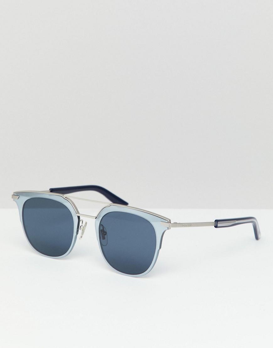 Солнцезащитные очки в стиле ретро Police - Серебряный