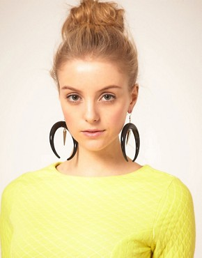 Image 2 ofASOS Curved Horn and Spike Drop Earrings