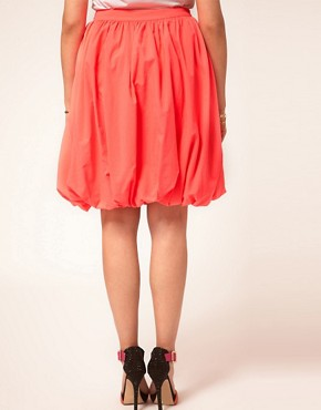 Image 2 ofASOS CURVE Midi Skirt In Puffball