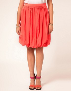 Image 4 ofASOS CURVE Midi Skirt In Puffball