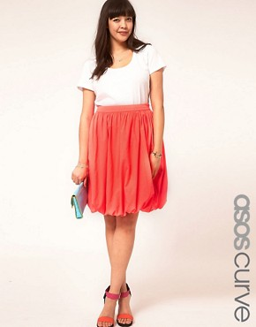 Image 1 ofASOS CURVE Midi Skirt In Puffball