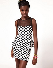 Fairground Magic Mouse Polka Dress