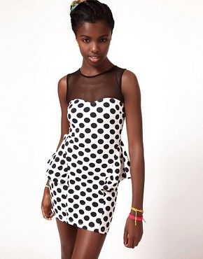Image 1 ofFairground Magic Mouse Polka Dress