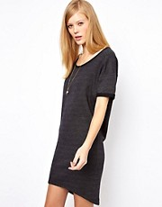 Selected Aliva Sweatshirt Mini Dress in Charcoal