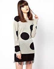 Markus Lupfer Polka Dot Intarsia Knit