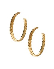 GoGo Philip Vintage Chain Motif Hoop Earrings