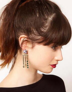 Image 2 ofASOS Gem Spike Earrings