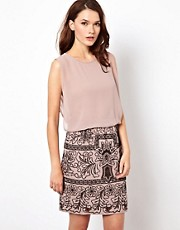 Warehouse Cutwork Skirt Dress