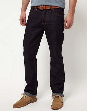 Image 1 ofNudie Average Joe Dry Organic Straight Jeans