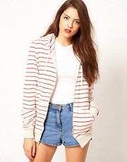 American Apparel Striped Fleece Hoodie