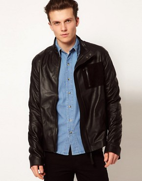 Image 1 ofLot 78 Leather Jacket Ethan