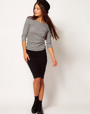 Image 1 ofPeople Tree Organic Cotton Pencil Skirt