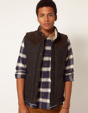 Image 1 of Hilfiger Denim Gilet with Shearling Collar