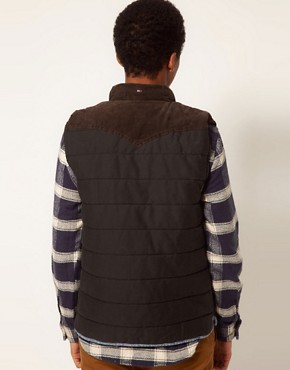 Image 2 ofHilfiger Denim Gilet with Shearling Collar