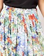 Image 3 ofFull Circle Floral Print Maxi Skirt