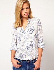 Mih Jeans Bandana Printed Shirt