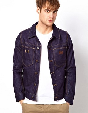 Image 1 ofG Star Jacket Slub Denim Large Patch Pocket
