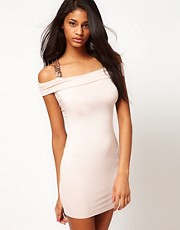 ASOS Bodycon Dress with Sequin Cross Back